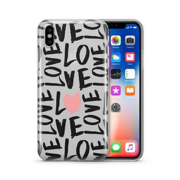 Spread The Love - Clear Case Cover