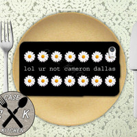 Lol Ur Not Cameron Dallas  Quote Daisy Pattern Tumblr Custom Rubber Tough Phone Case For The iPhone 4 and 4s and iPhone 5 and 5s and 5c