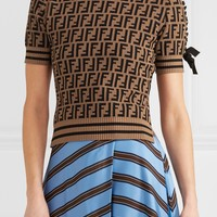 Fendi Women's Intarsia Knitted Sweater #955