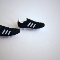 Soccer Earrings -- Soccer Cleats Studs, Soccer Studs, Silver, Athletes, Sports
