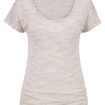 Lightweight Spacedye Tee With Cinched Sides