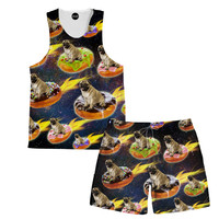 Donut Pug Tank and Shorts Rave Outfit