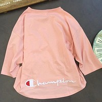 Champion Women Fashion Bat Sleeve Tunic Shirt Top Blouse