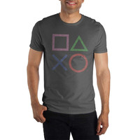 Playstation Buttons Shirt For Men