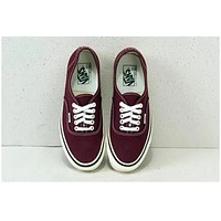 VANS Wine red Deck shoes Women Shoes Wine red B-CSXY