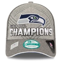 New Era Seattle Seahawks Super Bowl XLVIII Champions 9FORTY Trophy Collection Locker Room Adjustable Hat - Gray