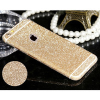 New Arrival Full Body Glitter for iPhone 5 5S Shiny Phone Sticker Case Gold Sparkling Diamond Film Decals Matte Screen Protector