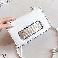 DIOR High Quality Hot Sale Women Leather Shopping Handbag Satchel Shoulder Bag Crossbody White