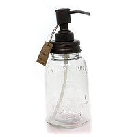 Tabletop MASON JAR SOAP DISPENSER Glass Pump Kitchen Bathroom 21464