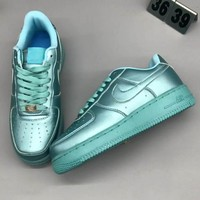 Nike AF1 ULTRA FLYKNIT LOW Fashion Casual Fashion Sneakers Running Sports Shoes Blue G-CSXY