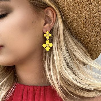 Grew On You Yellow Lily Earrings