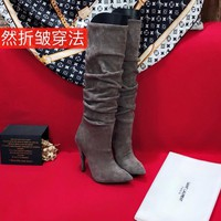 YSL Yves Saint Lauren women Casual Shoes Boots fashionable casual leather