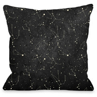 """Constellations"" Indoor Throw Pillow by OneBellaCasa, 16""x16"""