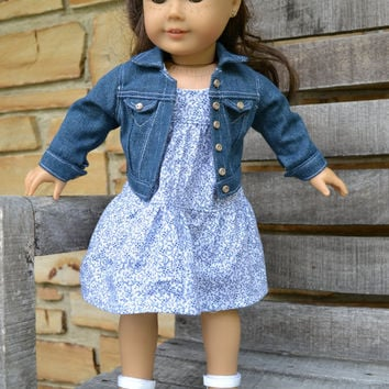 American Girl Doll Clothes - Blue Jean Jacket - MADE TO ORDER