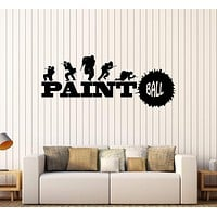 Vinyl Wall Decal Paintball Sports Game Teen Room Art Stickers Unique Gift (370ig)