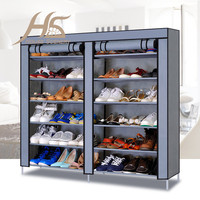House Scenery 12 Layers Assembled Non-woven Fabric Shoes Cabinet Folding Dustproof Wetproof Shoe lockers Racks For Living Room