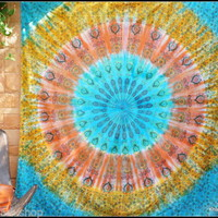 Tapestry Wall Hanging Yoga Indian Boho Bohemian Hippie Ombre Mandala Queen Size