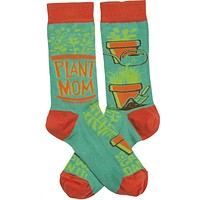 Plant Mom Grow Damn It Women's Funny Novelty Socks with Cool Design, Bold/Crazy/Unique Specialty Dress Socks