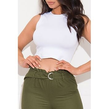 Simple As That Crop Top White