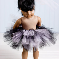 American Girl Doll Tutu, Lavender and Black, Toma's Tutus and Things
