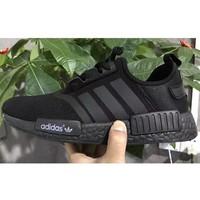 ADIDAS NMD Fashion Trending Women&Man Leisure Running Sports Sneakers Shoes Pure black