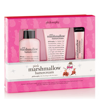 pink marshmallow buttercream | holiday trio | philosophy