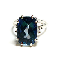 "Mystic Topaz, teal topaz ring, blue green, solitaire topaz ring, birthstone ring, s 6 3/4 ""Teal Princess"""