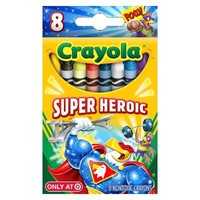 Crayola 8ct Pick your Pack Super Heroic Crayons