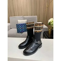 lv louis vuitton trending womens men leather side zip lace up ankle boots shoes high boots 219