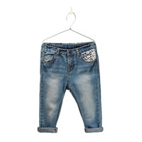 New Arrive fashion brand baby girls jeans denim pants children trousers Lace jeans for girl kids Strap jeans Freeshipping