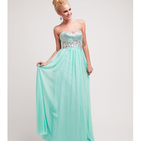 (PRE-ORDER) 2014 Prom Dresses - Mint Bead & Chiffon Strapless Gown