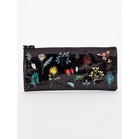 Plant Study Pencil Case in Black and Floral
