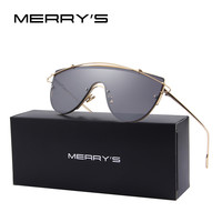 MERRY'S Women Integrated Twin-Beams Sunglasses Brand Designer Flat Panel Lens S'8065