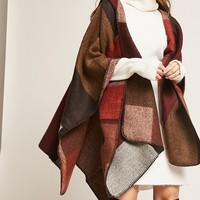 Hooded Colorblock Shawl