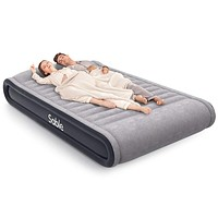"""Sable Air Mattresses Queen Size Inflatable Air Bed with Built-in Electric Pump & Storage Bag, Comfortable for Camping Travelling or Overnight Guests, Height 17"""""""