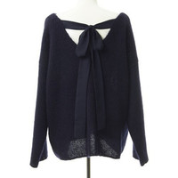 2015 New Mohair Bow Ribbon Sweater