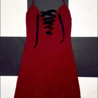 SWEET LORD O'MIGHTY! THE XTINA DRESS IN MAROON