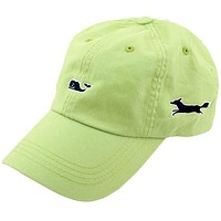 Whale Logo Baseball Hat in Cactus Green by Vineyard Vines, Also Featuring Longshanks the Fox