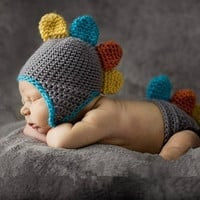 baby photo prop--gray dragon --3-6month