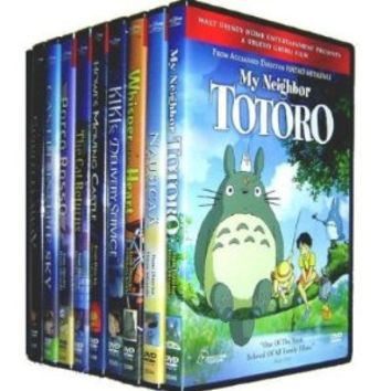 Miyazaki 13 Pack (Castle in the Sky/Kiki's Delivery Service/Nausicaa of the Valley of the Wind/Grave of the Fireflies/Porco Rosso/Princess Mononoke/Spirited Away/The Cat Returns/Howl's Moving Castle/My Neighbor Totoro/My Neighbors the Yamadas/Pom Poko/Whis