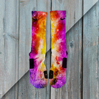 LUNAR GALAXY CUSTOMIZED NIKE ELITE SOCKS