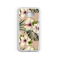 Phone Case Hibiscus Painting for Samsung Galaxy S4, S5, S6, S6 EDGE, S6 EDGE Plus, S7 and S7 EDGE