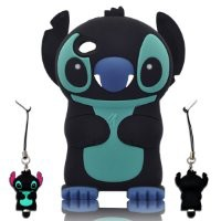 I Need 3d Stitch & Lilo Ipod Touch 4 Soft Silicone Case Cover with 3d Stitch Stylus Pen for Ipod Touch 4/4g/4th Generation - Black