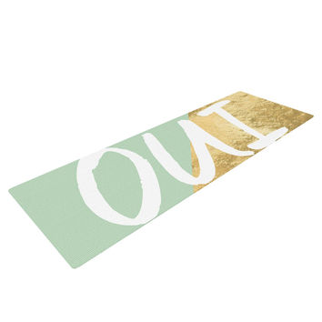 "KESS Original ""Oui Gold"" Yoga Mat"