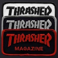 Thrasher Magazine Thrasher 2x4 Iron On Mag (1) Mag Logo Patch - Assorted Colors