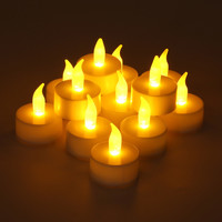 12pcs Flameless LED Tea Light Candles Battery Power Flicker Xmas Wedding Party Decor
