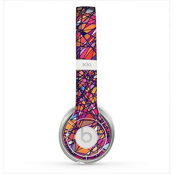 The Shards of Neon Color Skin for the Beats by Dre Solo 2 Headphones