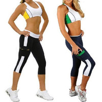 Women Elastic Yoga Tights Running Cropped Workout Leggings Fitness GYM Pants = 1933218052