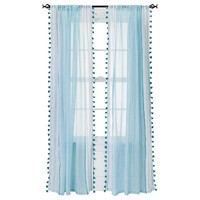 "Xhilaration® Tasseled Print Window Sheer - (50x84"")"