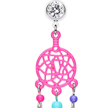 Enchanted Links Dream Catcher Belly Button Ring